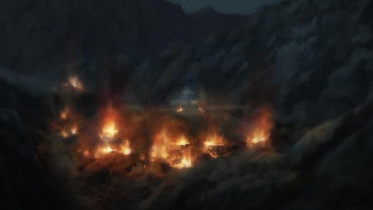 アルデラミン09-24炎上する村